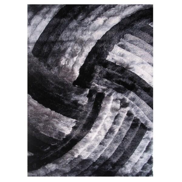Dimension Grey Polyester Rug (5' x 7'3)