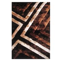 Dimension Brown Polyester Rug - 5' x 7'3