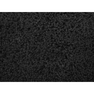Shaggy Black Acrylic Rug (5' x 7'3)