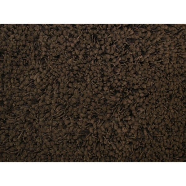 Shaggy Brown Acrylic Rug - 5' x 7'3