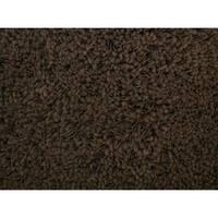Shaggy Brown Acrylic Rug - 5' x 7'3