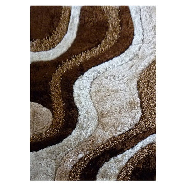 Dream Brown Polyester Rug (5' x 7'3)