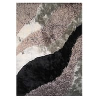 Dream Grey Polyester Rug - 5' x 7'3