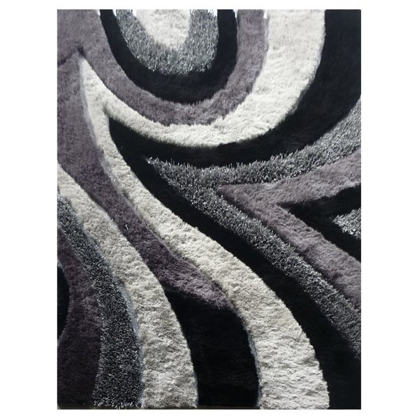 Dream Grey Polyester Rug (5' x 7'3)