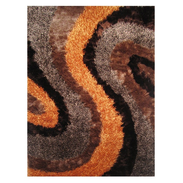 Dream Brown Polyester Rug - 5' x 7'3