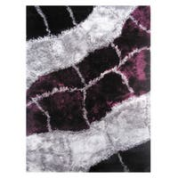 Dream Purple Polyester Rug (5' x 7'3)