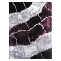 Dream Purple Polyester Rug - 5' x 7'3