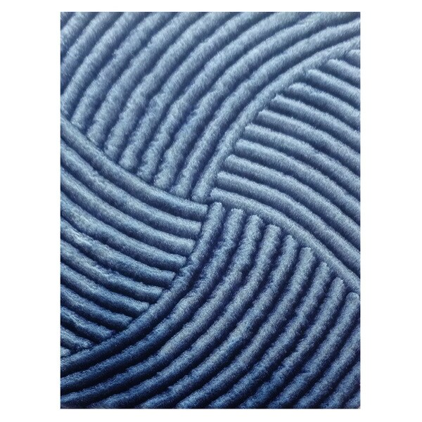 Dimension Blue Polyester Rug