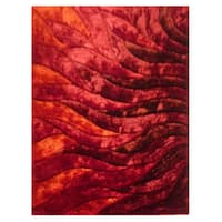 Dimension Red Polyester Rug - 5' x 7'3