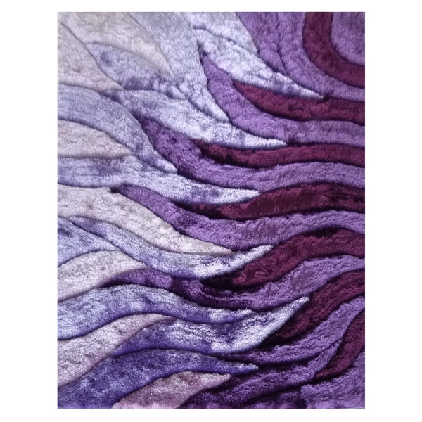 Dimension Purple Polyester Rug (5' x 7'3)