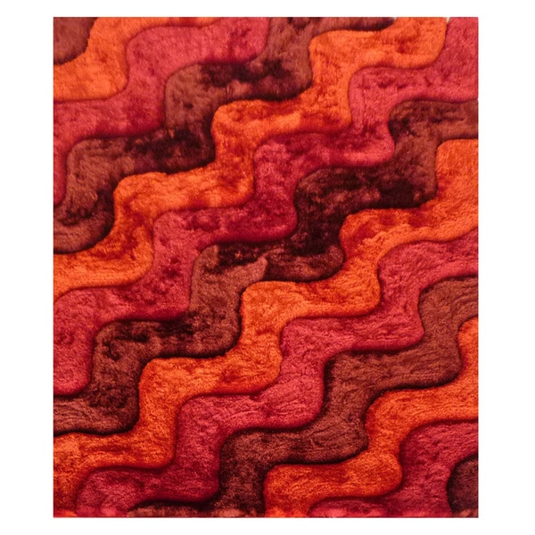 Dimension Orange Polyester Rug - 5' x 7'3