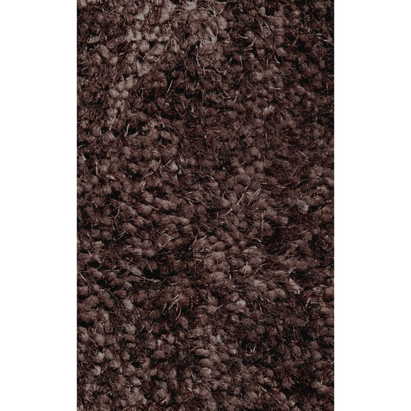 Super Shag Brown Polyester Rug (5' x 7'3)