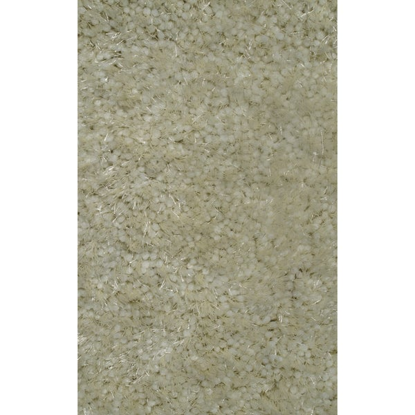 Super Shag Ivory Polyester Rug