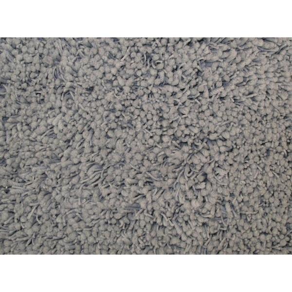 Shaggy Grey Acrylic Rug (7'3 x 10')