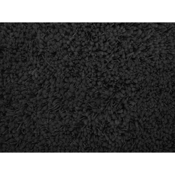 Shaggy Black Acrylic Rug
