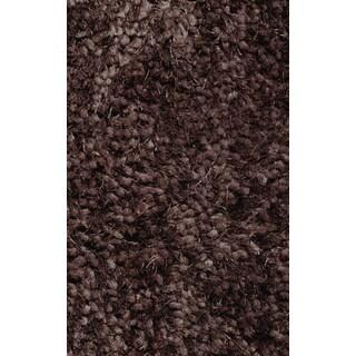 Super Shag Brown Polyester Rug (2' x 8')