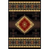 Cosmic Black Area Rug