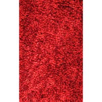 Super Shag Red Polyester Rug - 3'3 x 4'8