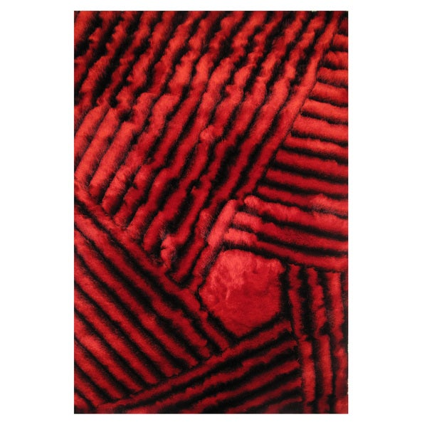 Dimension Red Polyester Rug