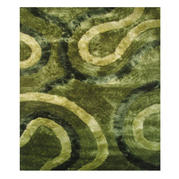 Dimension Green Polyester Rug (5' x 7'3)