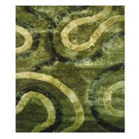 Dimension Green Polyester Rug - 5' x 7'3