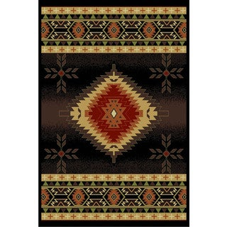 Cosmic Black Area Rug (8' x 11')