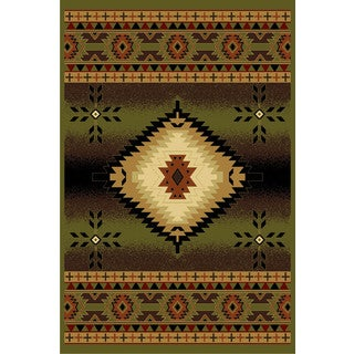 Cosmic Green Area Rug (8' x 11')