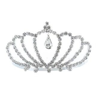 Kate Marie 'Ania' Silver Rhinestone Crown Tiara