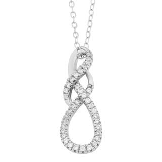 Link to Fremada Gold Over Sterling Silver Cubic Zirconia Fancy Infinity Pendant Necklace Similar Items in Necklaces