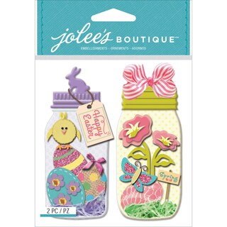 Jolee's Boutique Dimensional Stickers-Easter Egg Jars