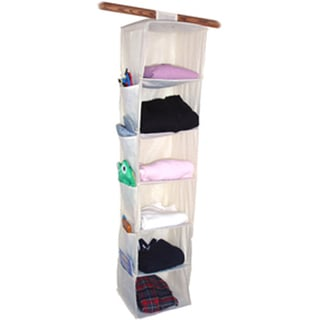 "6 Shelf Yarn & Craft Organizer 48""X11""X11""-Natural"