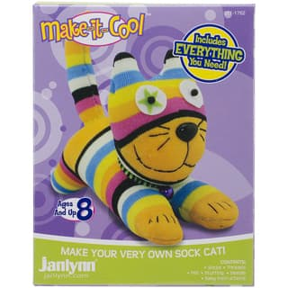 Claire The Cat Sock Animal Kit|https://ak1.ostkcdn.com/images/products/9655995/P16838759.jpg?impolicy=medium
