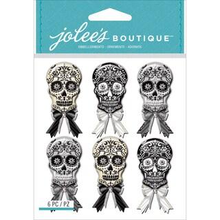 Jolee's Mini Repeats Stickers-Black & White Skulls