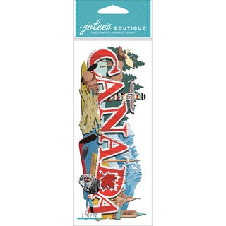 Jolee's Boutique Title Wave Dimensional Stickers-Canada