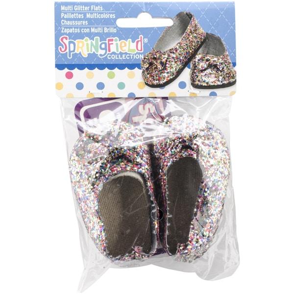 Springfield Collection Glitter Flats-Multicolor