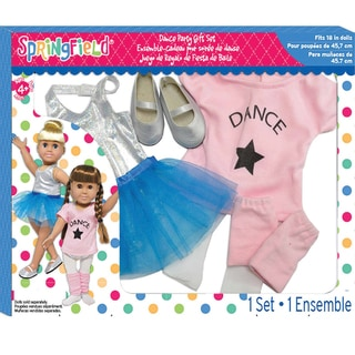 Springfield Collection Dance Party Gift Set-Pink Shirt, Silver Tank And Blue Skirt