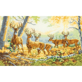 "Gold Collection Summer's End Counted Cross Stitch Kit-16""X10"" 18 Count"