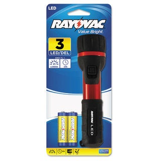 Rayovac 3 V LED Red/ Black Flashlight
