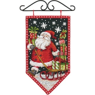 "Debbie Mumm Winter Banner Counted Cross Stitch Kit-5""X8"" 14 Count"