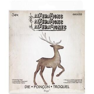 """Sizzix Bigz Die By Tim Holtz 5.5""""X6""""-Prancing Deer"""