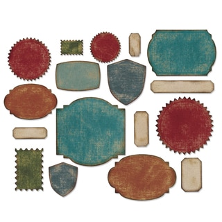 Sizzix Thinlits Dies 17/Pkg By Tim Holtz-Labels