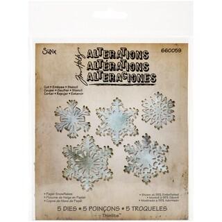 Sizzix Thinlits Dies 5/Pkg By Tim Holtz-Paper Snowflakes