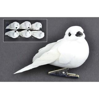 """Mushroom Birds 3"""" 6/Pkg-White Dove"""