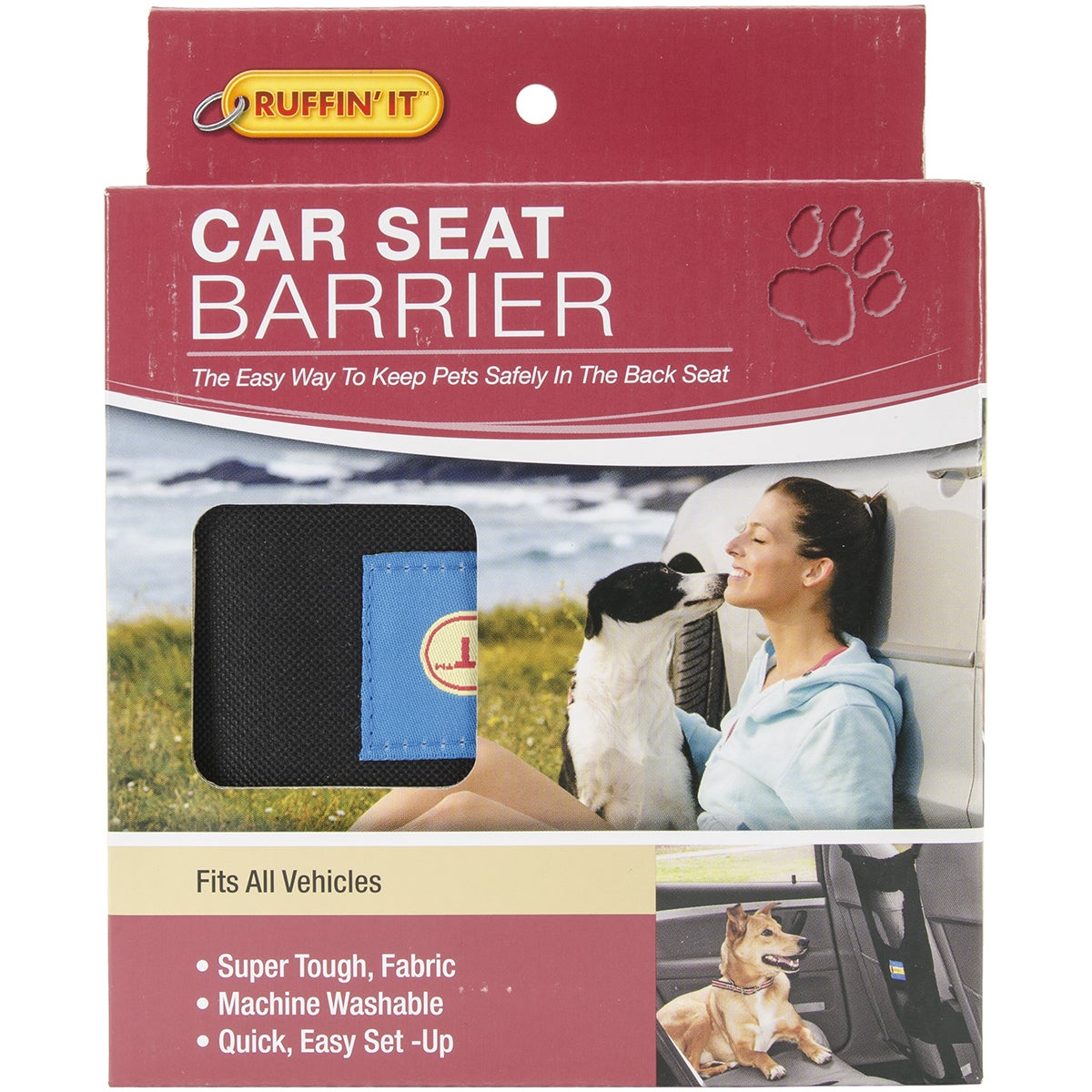 Westminster Ruffin' It Pet Car Seat Barrier (front seat)