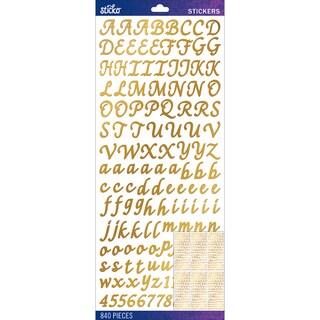 Sticko Alphabet Stickers-Gold Foil Script