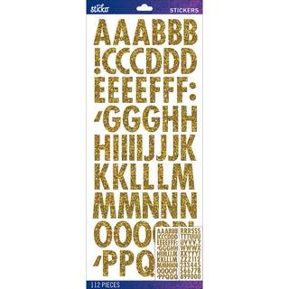 Sticko Alphabet Stickers-Gold Futura Regular Glitter