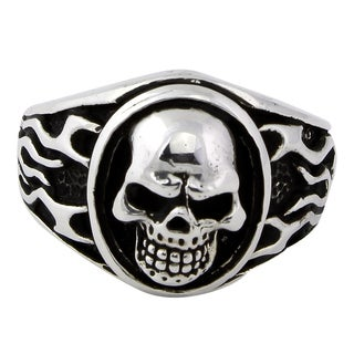 Sterling Silver Evergreen Skull Ring