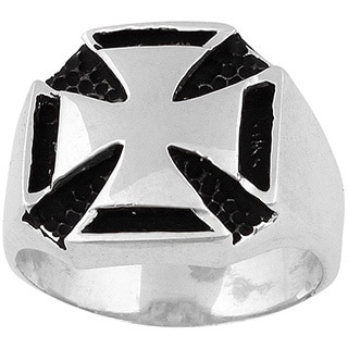 Sterling Silver Templar Iron Cross Ring