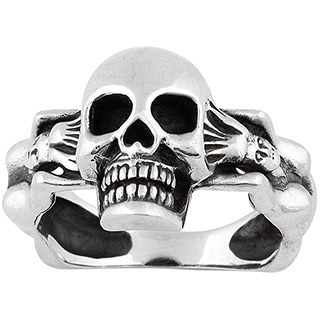 Sterling Silver Succubus Death Skull Ring