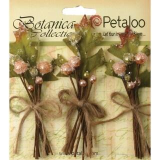 """Botanica Sugared Berry Clusters 3.25"""" 3/Pkg-Peach"""